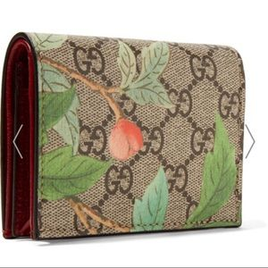 GUCCI -canvas textured-leather wallet AUTHENTIC